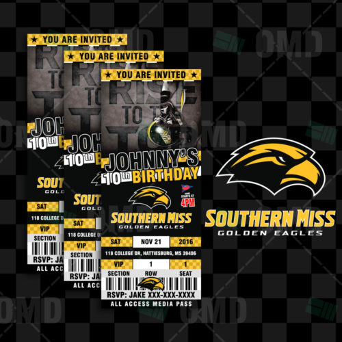 Southern Miss Golden Eagles - Invite 1 - Product 1