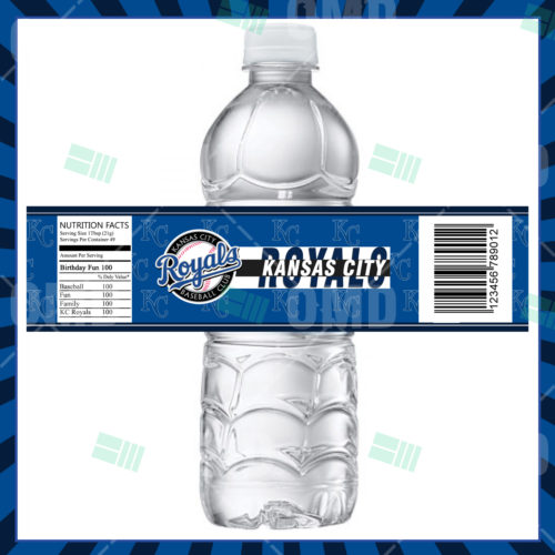 Kansas City Royals Baseball - Bottle Label - Product 1