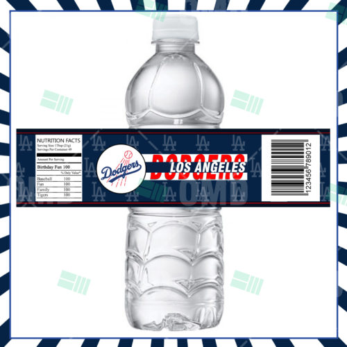Los Angeles Dodgers Baseball - Bottle Label - Product 1