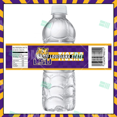 Louisiana State Tigers - LSU - Bottle Label - 1 - Product 1