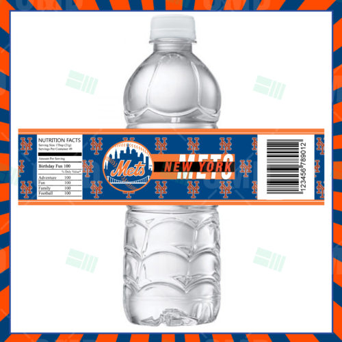 New York Mets - Bottle Label - 1 - Product 1