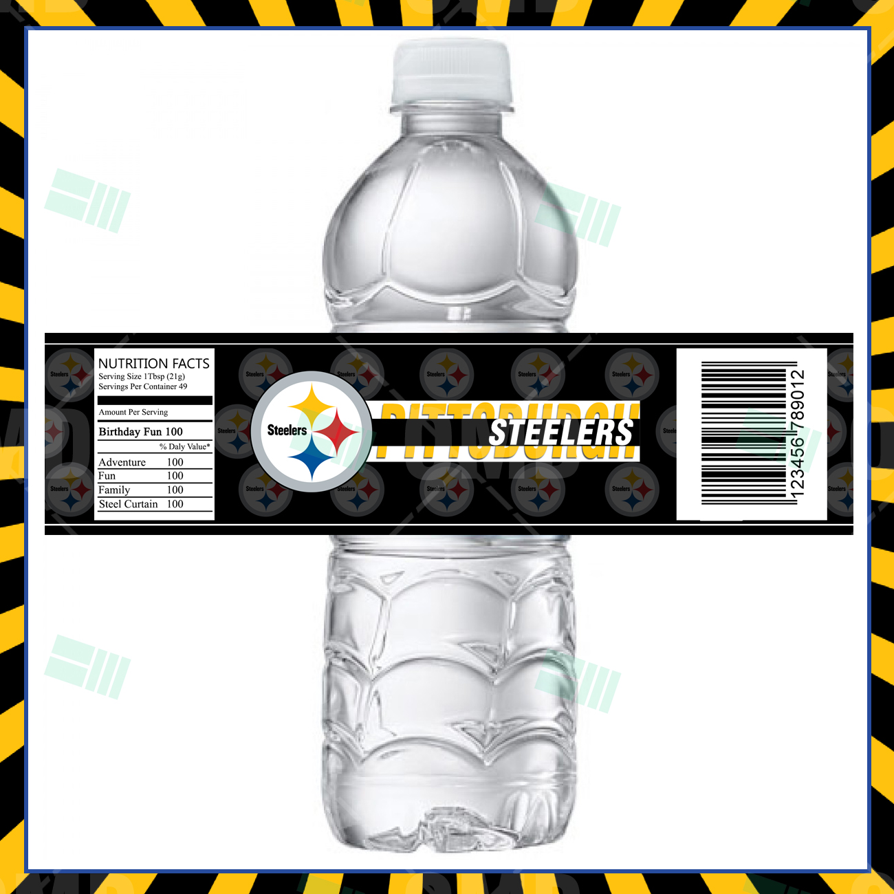 Pittsburgh Steelers Football Bottle Labels – Sports Invites