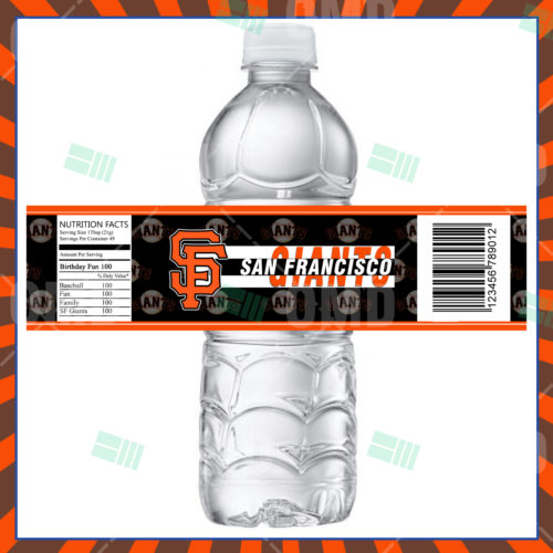 San Francisco Giants Baseball - Bottle Label - Product 1