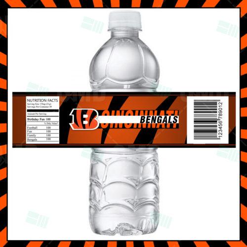 Cincinnati Bengals - Bottle Label - Product 1