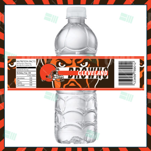 Cleveland Browns - Bottle Label - Product 1