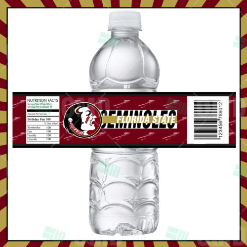 Florida State Seminoles  - Bottle Label - 1 - Product 1