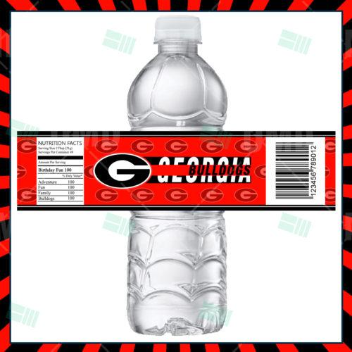 Georgia Bulldogs - Bottle Label - Product 1