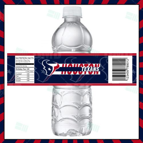 Houston Texans - Bottle Label - Product 1