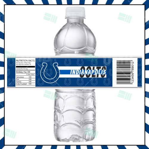 Indianapolis Colts - Bottle Label - Product 1