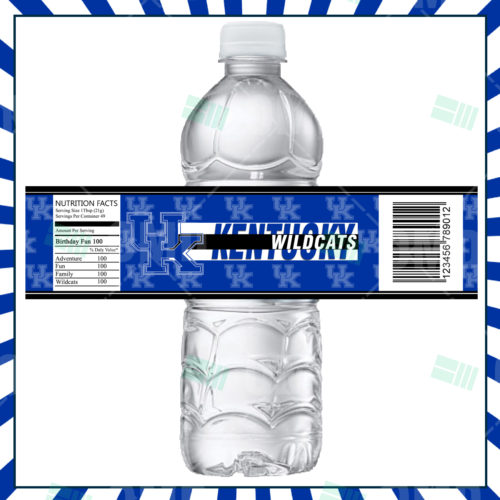 Kentucky Wildcats - Bottle Label - Product 1