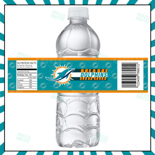 Miami Dolphins - Bottle Label - Product 1