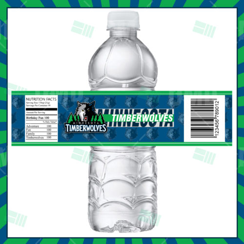Minnesota Timberwolves - Bottle Label - Product 1