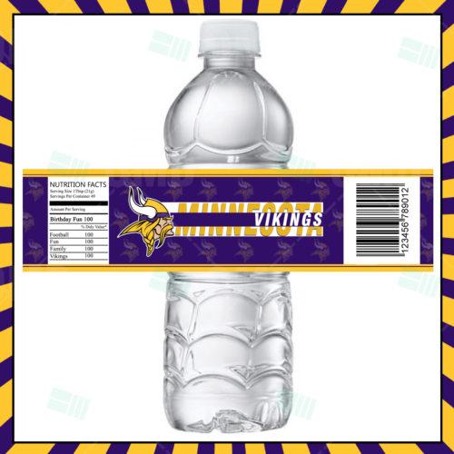 Minnesota Vikings - Bottle Label - Product 1