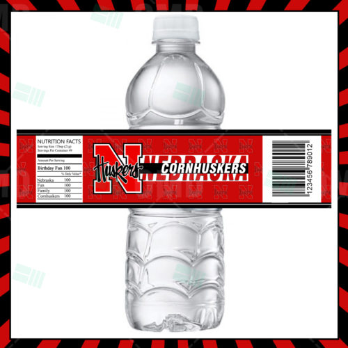 Nebraska Cornhuskers - Bottle Label - 1 - Product 1