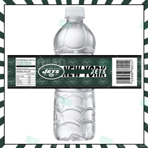 New York Jets  - Bottle Label - 1 - Product 1