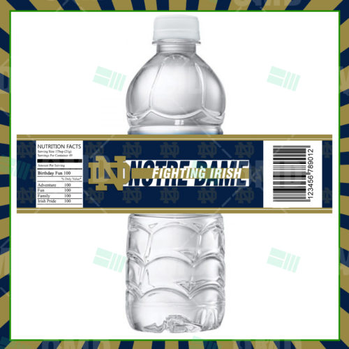 Notre Dame Fighting Irish - Bottle Label - Product 1