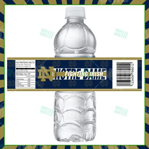 Notre Dame Fighting Irish - Bottle Label - Product 1