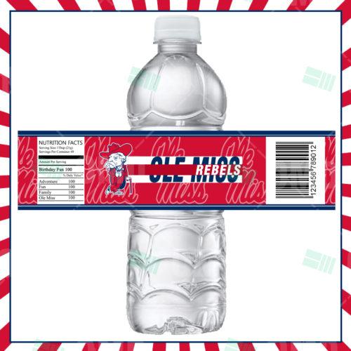 Ole Miss Rebels - Bottle Label - Product 1