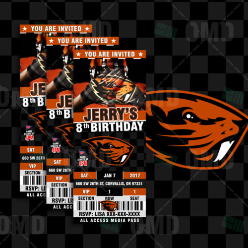 Oregon State Beavers - Invite 1 - Product 1