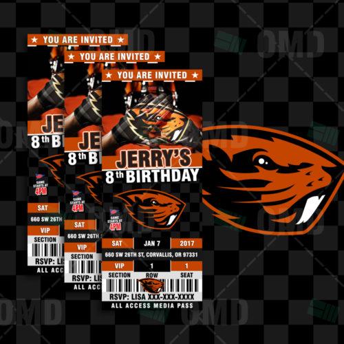 Oregon State Beavers - Invite 1 - Product 1