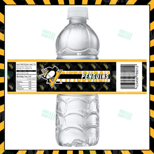 Pittsburgh Penguins - Bottle Label - 1 - Product 1