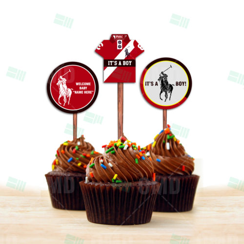 Polo - Cup Cake Topper 1- Product 1