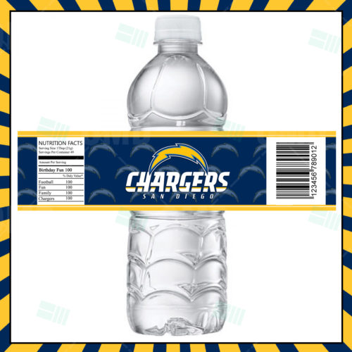 San Diego Chargers - Bottle Label - Product 1