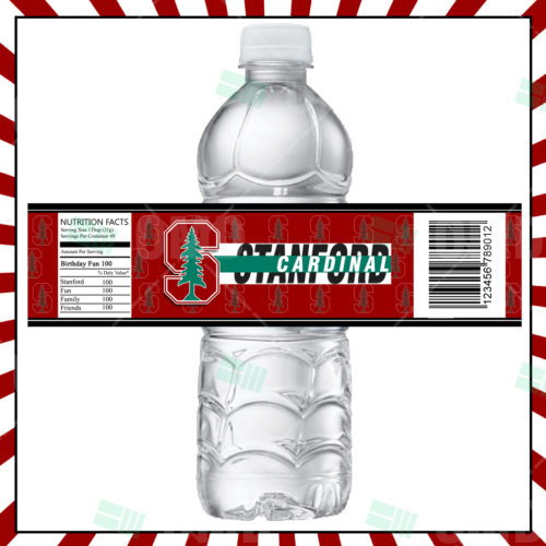 Stanford Cardinal  - Bottle Label - 1 - Product 1