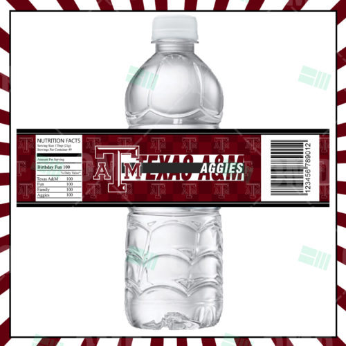 Texas A&M Aggies - Bottle Label - Product 1