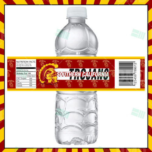 USC Trojans - Bottle Label - Product 1