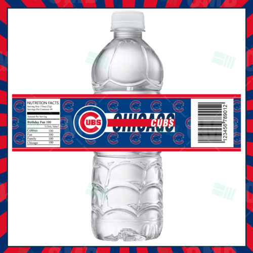Chicago Cubs - Bottle Label - 1 - Product 1