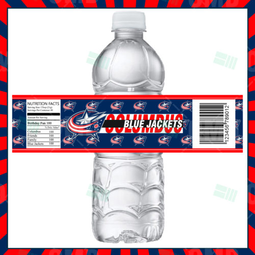 Columbus Blue Jackets - Bottle Label - 1 - Product 1