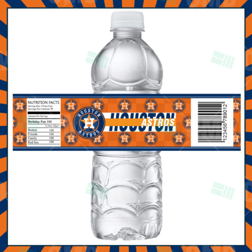 Houston Astros - Bottle Label - 1 - Product 1