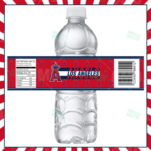 Los Angeles Angels - Bottle Label - 1 - Product 1
