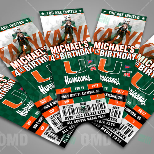 Miami Hurricanes Football - Invite 2 - Product 2