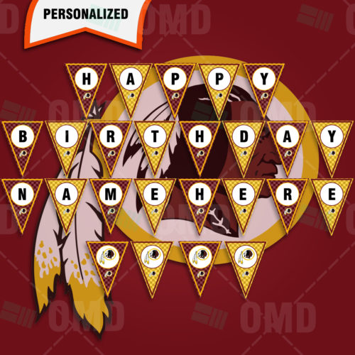 Washington Redskins - Banner Design - Product 1