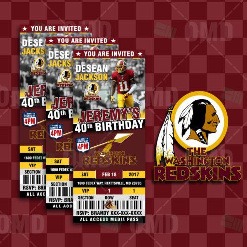 Washington Redskins - Invite 2 - Product 1