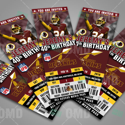 Washington Redskins - Invite 2 - Product 2-1