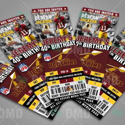 Washington Redskins - Invite 2 - Product 2
