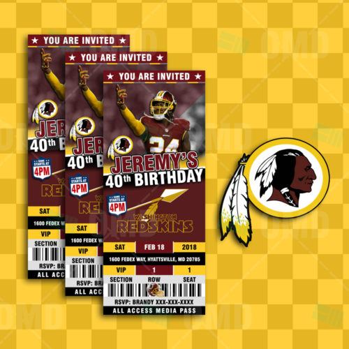 Washington Redskins - Invite 2 - Product 3-1