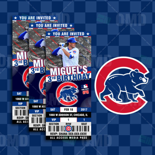 Chicago Cubs Baseball - Invite 3 - Product 1
