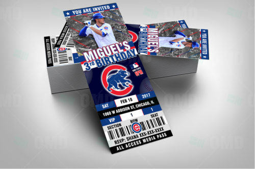Chicago Cubs Baseball - Invite 3 - Product 2