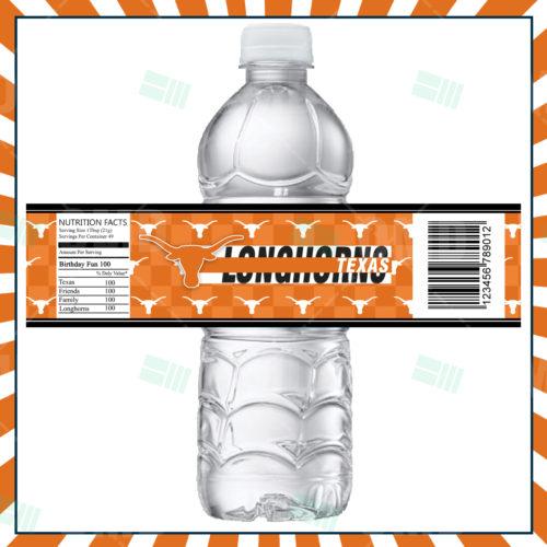 Texas Longhorns - Bottle Label - Product 1