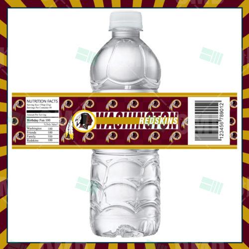 Washington Redskins - Bottle Label - Product 1