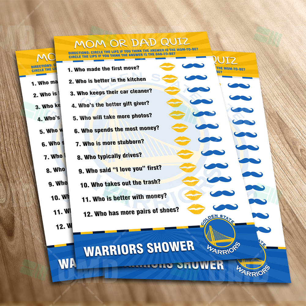 Golden State Warriors Mom Dad Quiz Game Product