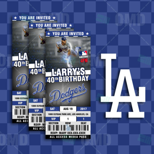 Los Angeles Dodgers Baseball - Invite 3 - Product 1