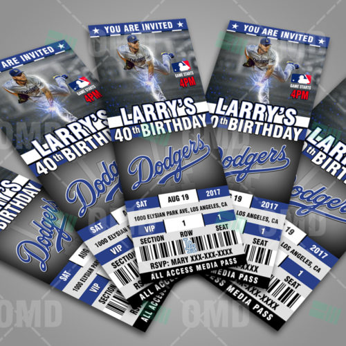 Los Angeles Dodgers Baseball - Invite 3 - Product 3