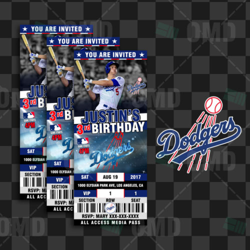 Los Angeles Dodgers Baseball - Invite 4 - Product 1