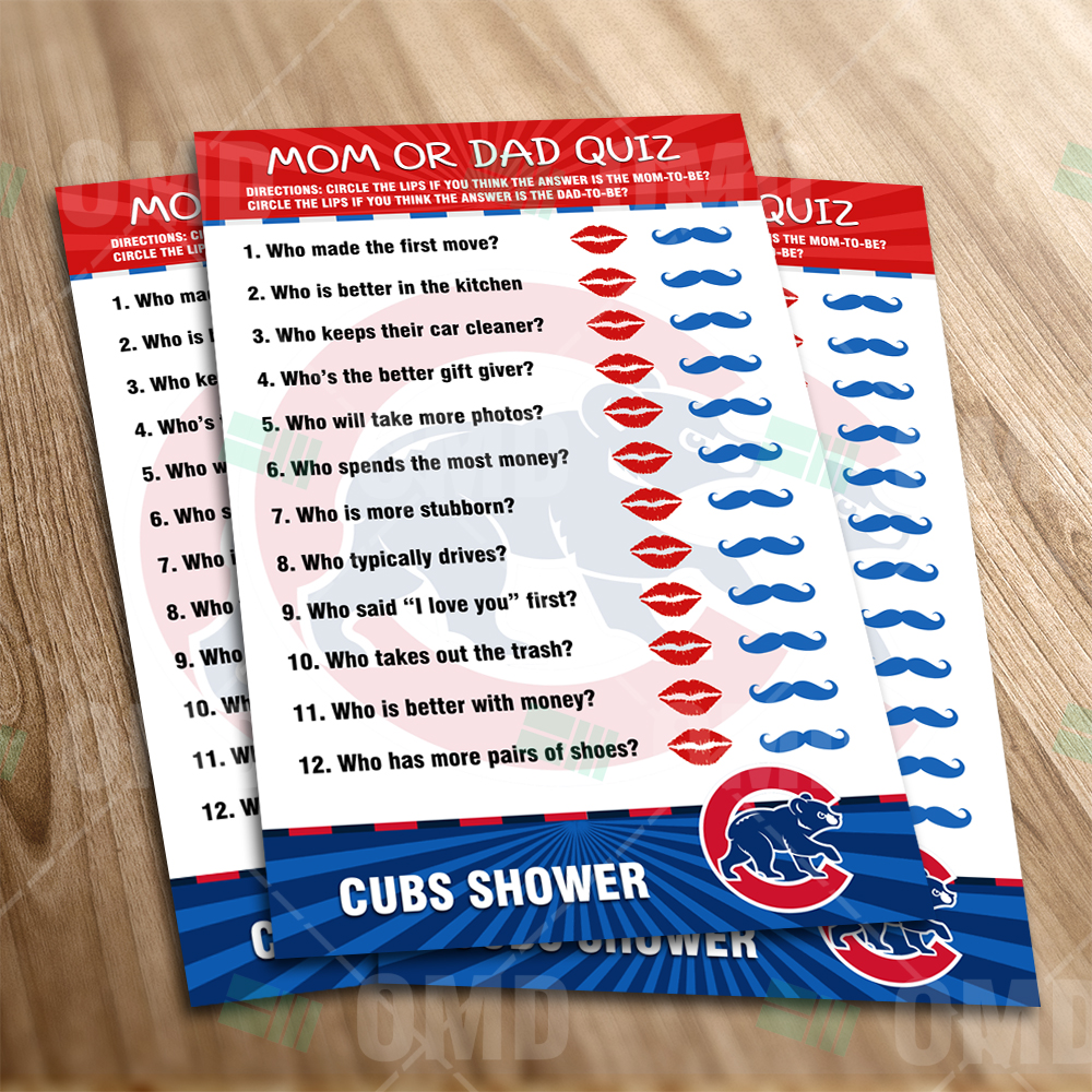 Chicago Cubs Mom Dad Quiz Game Product 1