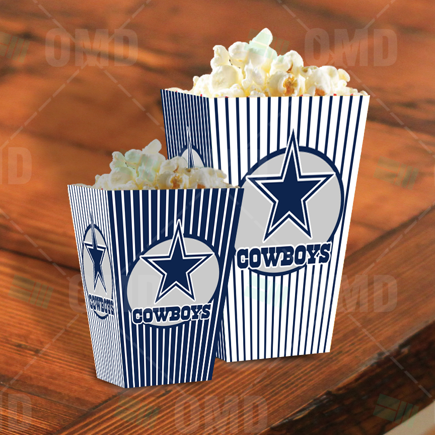 Dallas Cowboys Sports Party Popcorn Boxes Sports Invites